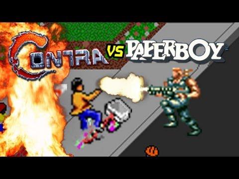 Contra Vs. Paperboy, una combinación muy violenta
