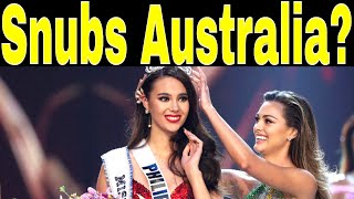 CATRIONA GRAY MISS UNIVERSE 2018 SNUBS AUSTRALIA?