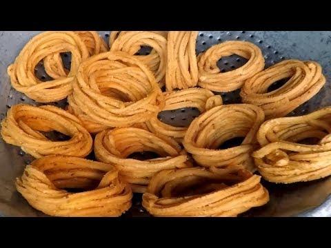 Rice Flour Murukulu - Biyyampindi Jantikalu   Traditional Snacks   Street Food