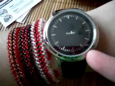 Godier синие диоды Touch Screen часы модель GDR8888 led watch
