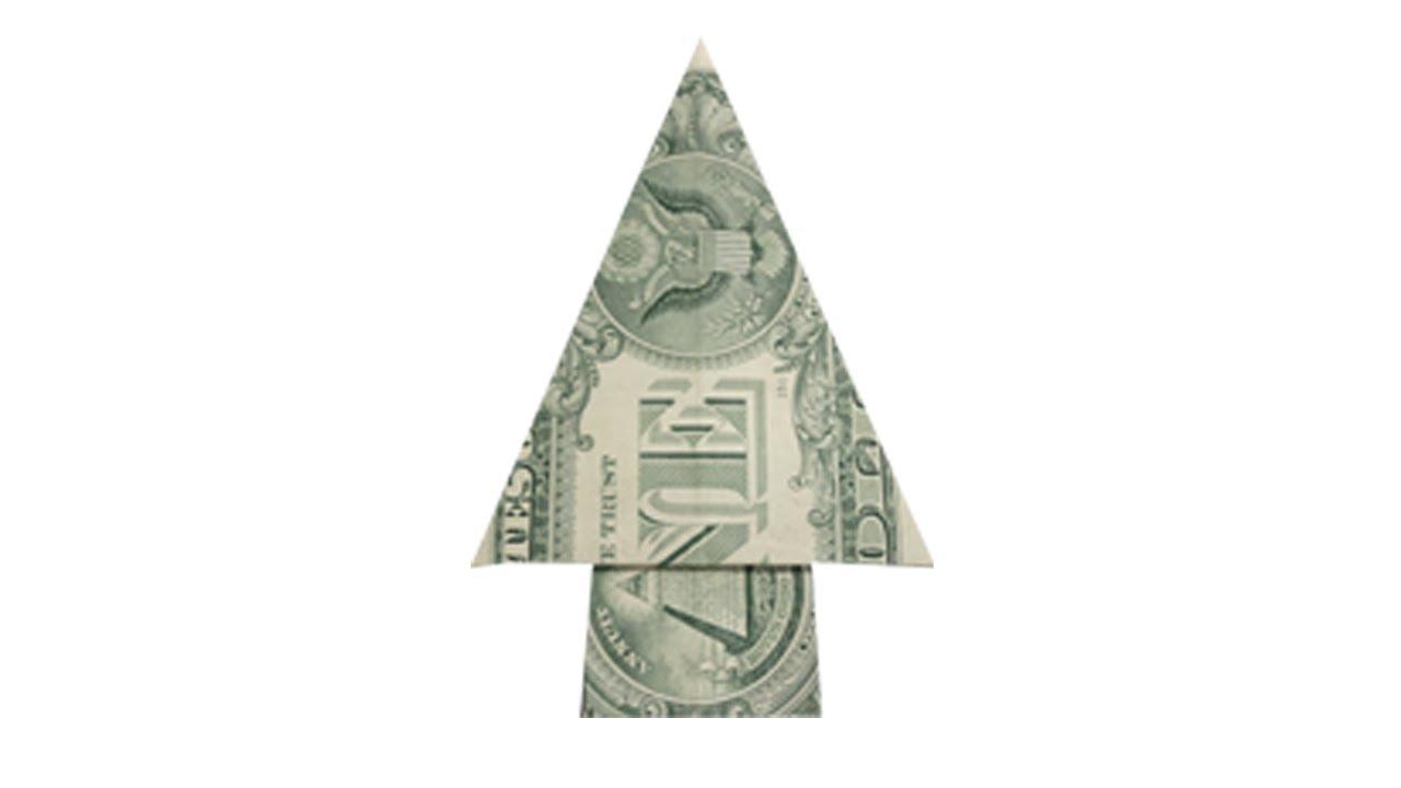 how to fold a money origami xmas tree youtube