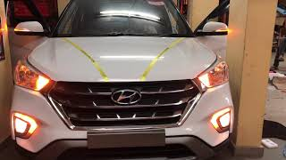 Hyundai Creta FL | Fog Lamp with Matrix DRL | Glamour Car Accessories | Bangalore | Cont: 9986031792