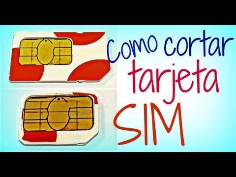 Como cortar tarjeta SIM a micro SIM (incluye plantilla)