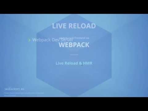 Webpack 8.1: Live Reload & HMR - Webpack Dev Server