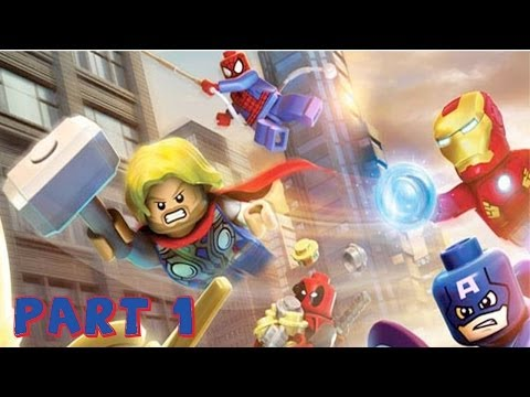LEGO Marvel Super Heroes Walkthrough Gameplay - Part 1 - Intro Hulk Iron Man! (Xbox 360,PC Gameplay)