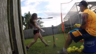 Jessi 2019--- Great workout and hitting session, 9/20/2014