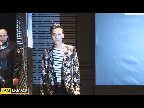 【g-dragon ♕】(arrival) Attending Saint Laurent † Ysl † Show In Paris By Minvipelf ® Gd 2015 150125 video