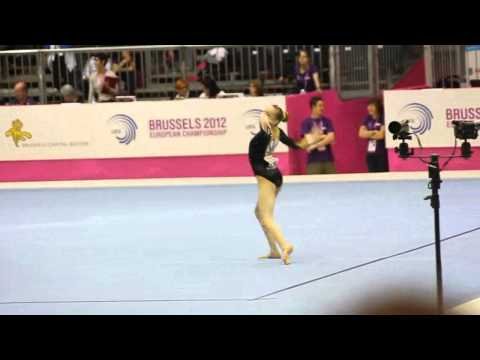 Rebecca TUNNEY GBR, Floor Senior Qualification, European Gymnastics Championships 2012