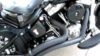 Harley Davidson Cross bones For sale softail Vance & Hines Pipes