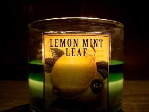 Bath and Body Works Candle Review- Candle of the Week: Lemon Mint Leaf (No. 5)