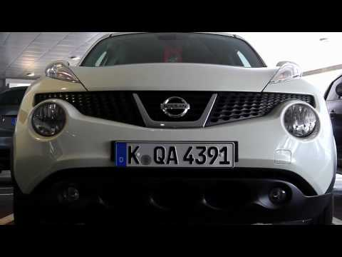 Malo Le Masson at the JUKE test-drive: Frankfurt