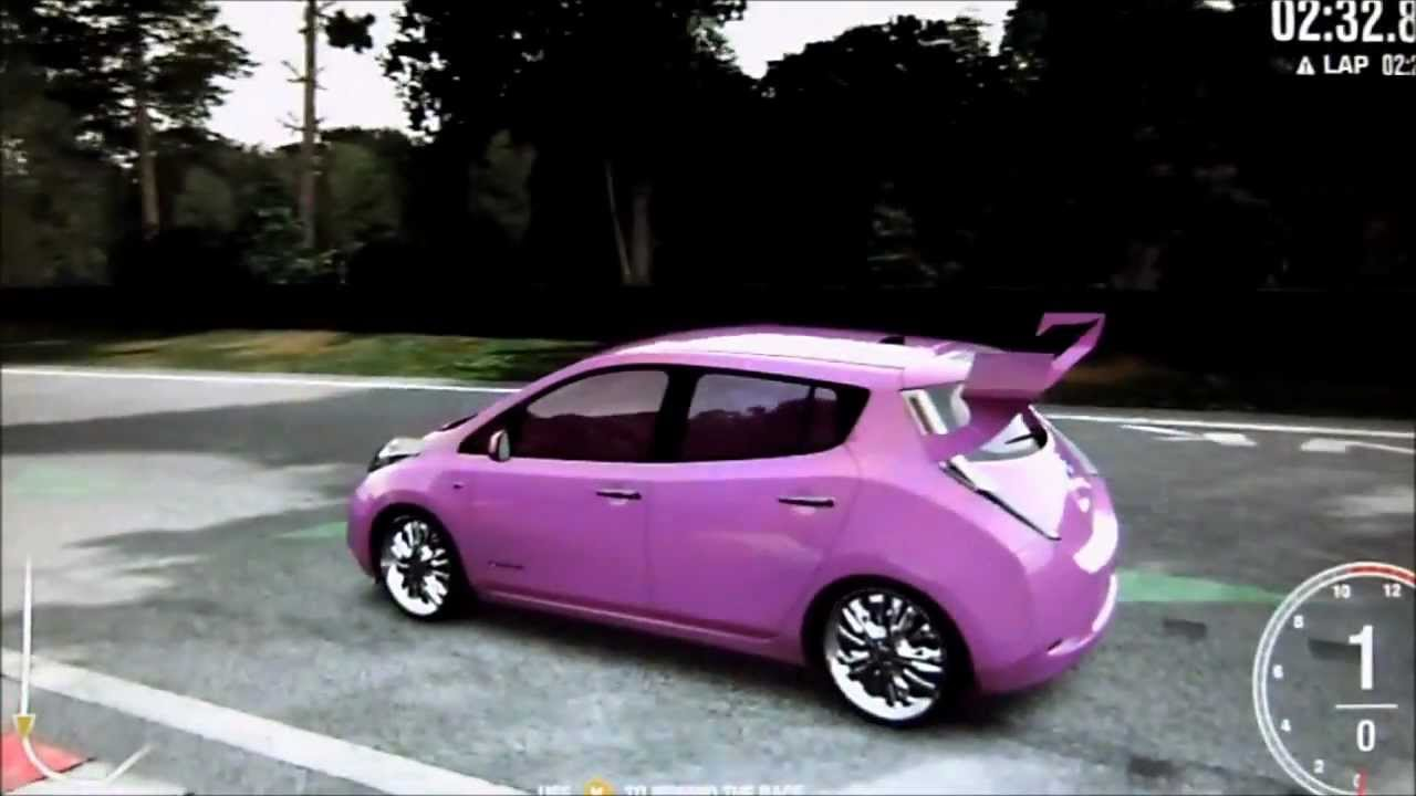 forza 4 nissan leaf pimped out nurburgring speed