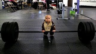 Cute Baby And Daddy Workout Together || Funny Fails Baby