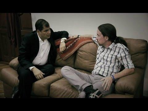 """Pablo Iglesias: """"El estilo de Rafael Correa me gusta, no se deja intimidar por los ricos"""""""