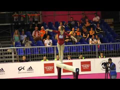 Celine van GERNER NED, Beam Senior Qualification, European Gymnastics Championships 2012