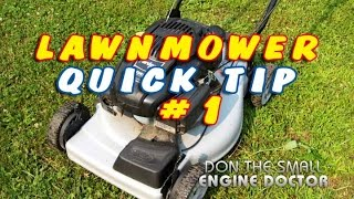 Lawnmower Quick Tip #1 - Air Filters