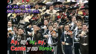 Canta y No llores -  mariachi letra lyrics españo ingles  spanish english Lovely Sky 360p