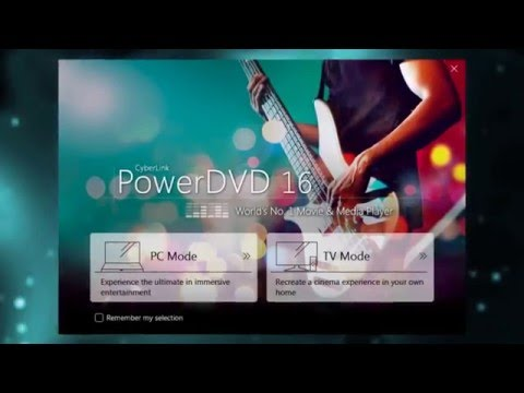 PowerDVD  |  Using TV Mode