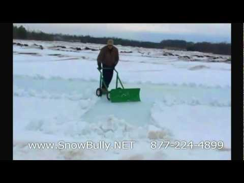 The SNOW BULLY snow plow shovel perfect for MN MI WI NY OH MA driveway
