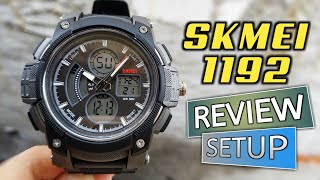 SPORT WATCH SKMEI 1192 DUAL TIME DISPLAY REVIEW FULL SETUP