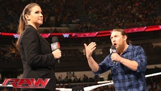 Stephanie McMahon questions Daniel Bryan's decision to return to the ring: Raw, January 12, 2015