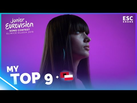Junior Eurovision 2019: My TOP 9 (So far)