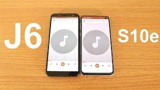 Samsung Galaxy J6 2018 Vs Galaxy S10e Speaker Test
