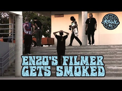 ENZO'S FILMER GETS SMOKED! TYLER YOUD SPEAKS: THE HOLE THING | Krux Trucks