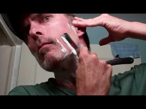 Gold Dollar Straight Razor new hone test shave first lather