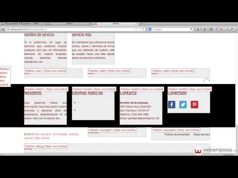 Pack Webempresa 3 Favourite - Configuración de módulos principales