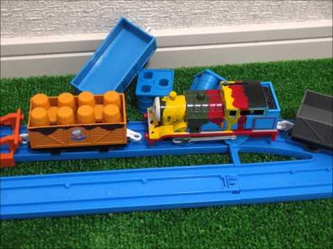 Thomas&Friends!!プラレールトーマスがじこでペンキトーマスに!じこはおこるさ!To Thomas paint Thomas!! Accidents Will Happen!!