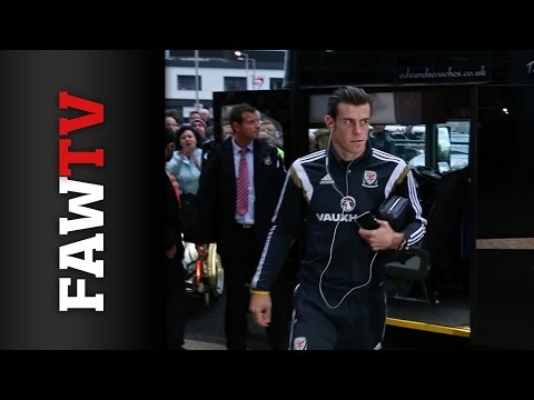 Wales arrive at the Cardiff City Stadium ahead of Cyprus clash