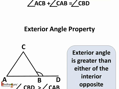 Maths - Triangle  external angle theorem -  English