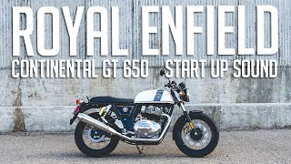 2019 Royal Enfield Continental GT 650 // Start Up And Stock Exhaust Sound (4K)