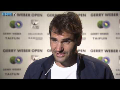Federer Overcomes Goffin Challenge Halle 2016