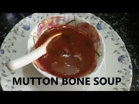 MUTTON BONE SOUP IN TELUGU||RAMA SWEET HOME