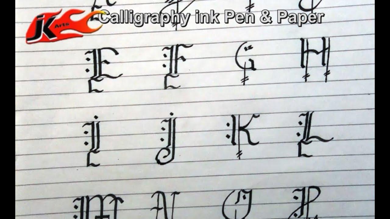 Diy how to write calligraphy capital alphabets jk arts How to write calligraphy letters az