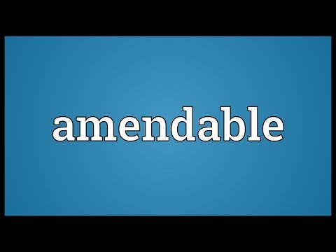 Header of Amendable