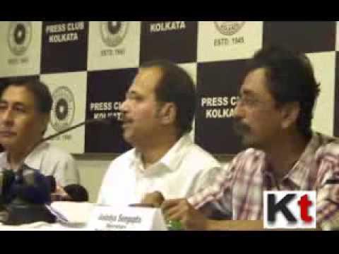 Pradesh Congress President Adhir Ranjan Chowdhury at the Meet the Press Programme