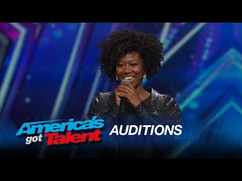 Sharon Irving: Mel B Hits Golden Buzzer For Soulful Singer   Americau0027s Got  Talent 2015