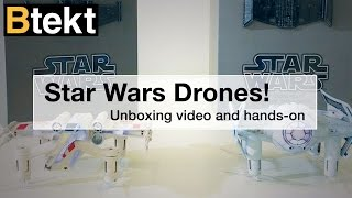 Star Wars Battling Quadcopter unboxing - X Wing drone!