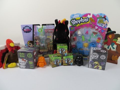 Happy Turkey Day Shopkins Minecraft Mlp Hello Kitty Lps Blind Bag Toy Unboxing video