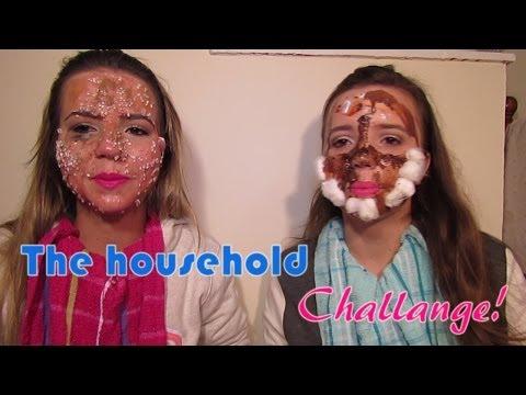Desafio de maquiagem com produtos para casa | The Household Challange