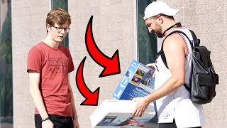 Making Strangers Choose Between Free Playstation & Free XBOX!