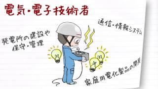 職業紹介【電気電子技術者篇】~将来の仕事選びに役立つ動画