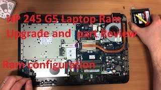 Hp 245 G5 Laptop RAM upgrade and part review