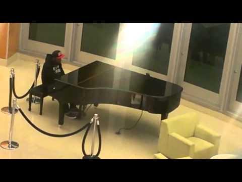 Blake Brooks playing piano at Jersey Shore Medical Center - 10/07/2013