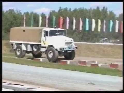 PLATFORM TRUCK KrAZ-5133.avi