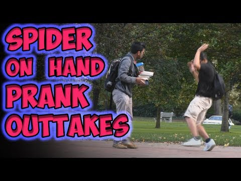 Spider On Hand Prank Outtakes video