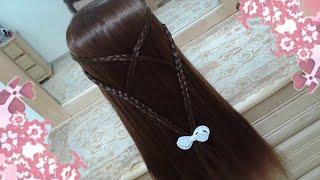 peinados de mariposa #13 faciles para cabello largo bonitos y rapidos para niña en fiestas y escuela